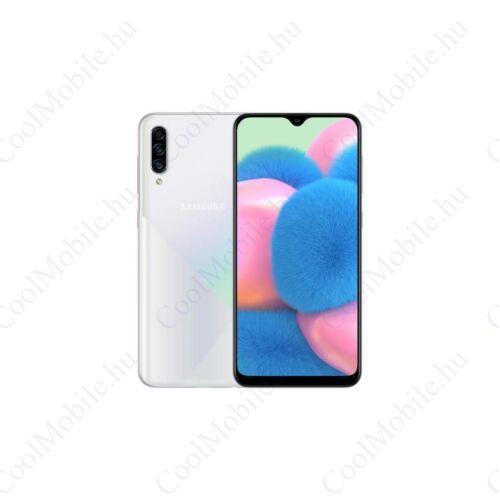 Samsung SM-A307FN-DS Galaxy A30s (2019) 64GB 4GB RAM, fehér, Kártyafüggetlen, 1 év Gyártói garancia