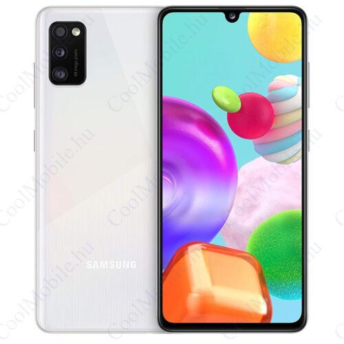 Samsung Galaxy A41 64GB Dual SIM, fehér, Gyártói garancia