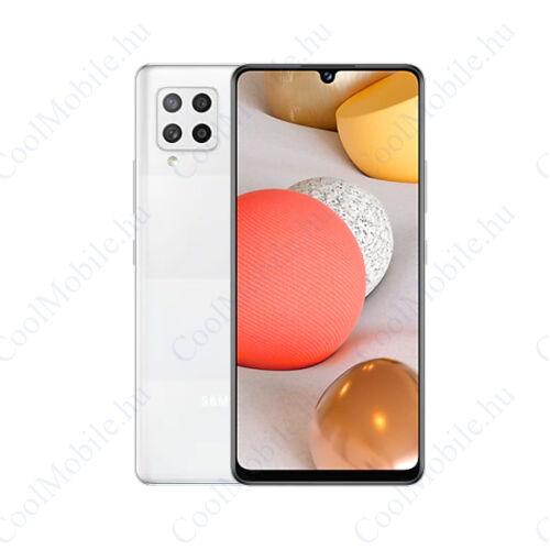 Samsung Galaxy A42 128GB 4GB Dual SIM, prizma fehér, Gyártói garancia