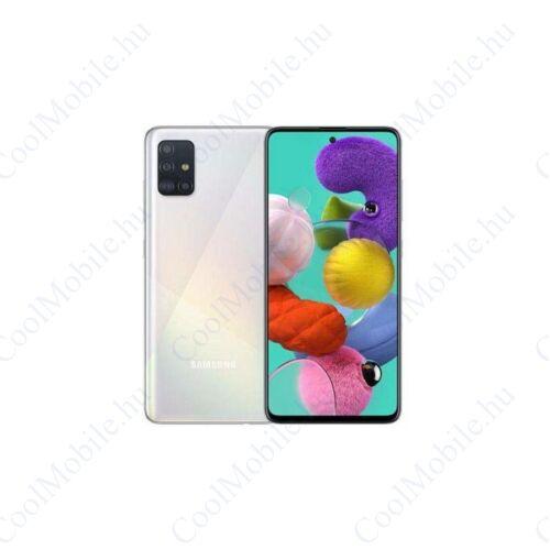 Samsung Galaxy A51, (A515) Dual Sim 128GB, fehér, kártyaföggetlen, 1 év gyártói garancia