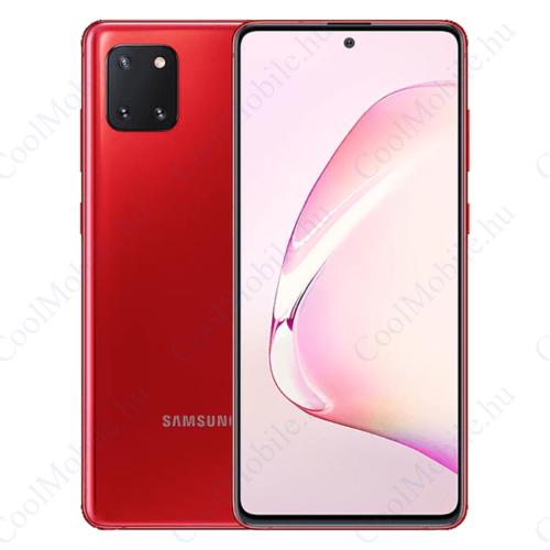 Samsung Galaxy Note 10 Lite N770F Dual SIM, 128GB, piros, Gyártói garancia