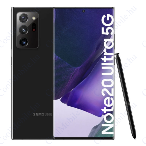 Samsung Galaxy Note 20 Ultra 5G 256GB 12GB Dual fekete, Gyártói garancia