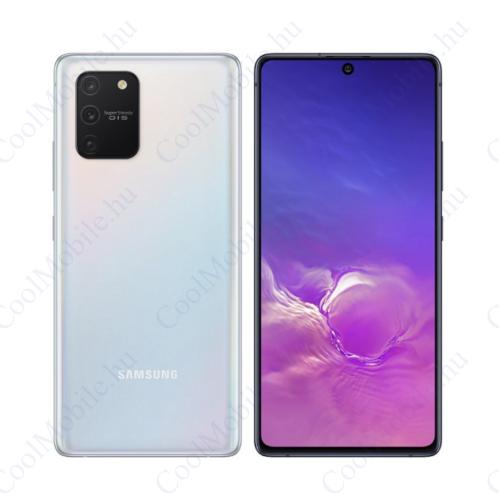 Samsung G770F Galaxy S10 Lite 128GB Dual Sim, fehér, Gyártói garancia