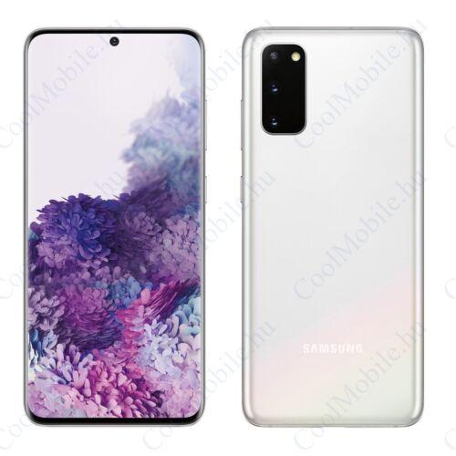 Samsung Galaxy S20+ 5G 128GB 12GB RAM Dual (G986B) fehér, Gyártói garancia