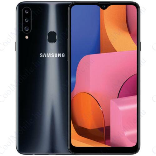 Samsung Galaxy A20S (A207) 32GB 3GB Dual, fekete, Gyártói garancia