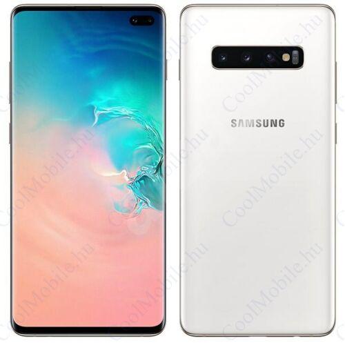 Samsung G975F Galaxy S10+ 128GB Dual Sim, kerámia fehér, Gyártói garancia