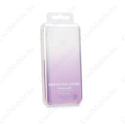 Samsung A405 Galaxy A40 Gradation Cover, gyári színátmenetes tok, ibolya, EF-AA405CV