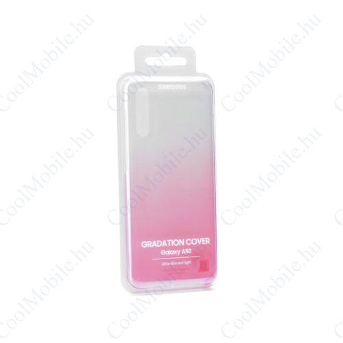 Samsung A505 Galaxy A50 Gradation Cover, gyári színátmenetes tok, rózsaszín, EF-AA505CP