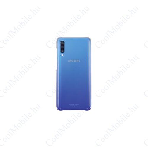 Samsung A705 Galaxy A70 Gradation Cover, gyári színátmenetes tok, ibolya, EF-AA705CV