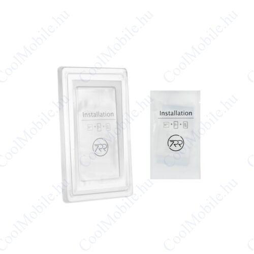 Samsung A750 Galaxy A7 (2018), 5D Full Glue hajlított tempered glass kijelzővédő üvegfólia, fekete