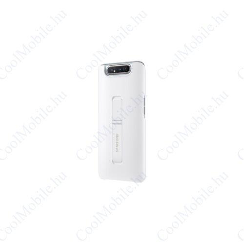 Samsung A805 Galaxy A80 Protective Standing Cover, gyári tok, fehér, EF-PA805CW