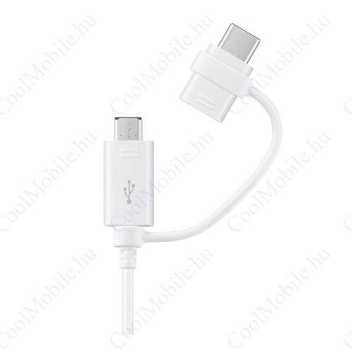 Samsung EP-DG930DWE microUSB/Type-C adatkábel, fehér, gyári ECO csomagolásban