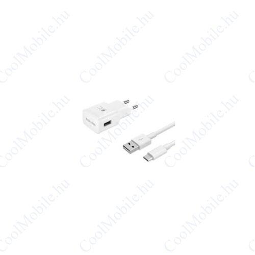 Samsung EP-TA20EWE töltő + EP-DN930CWE USB-C kábel, 5V/2A, gyorstöltő, fehér