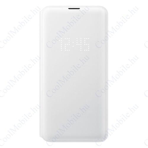 Samsung G970 Galaxy S10e LED View Cover, gyári flip tok, fehér, EF-NG970PW