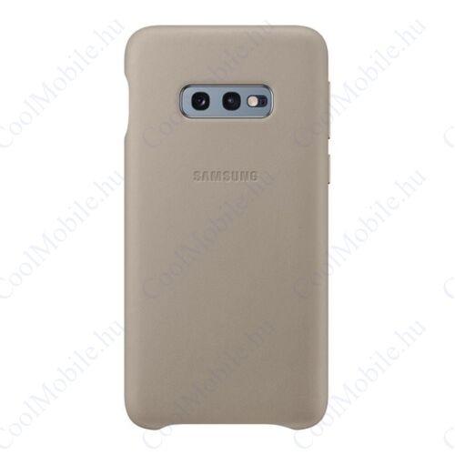 Samsung G970 Galaxy S10e Leather Cover, gyári bőr tok, szürke, EF-VG970LJ