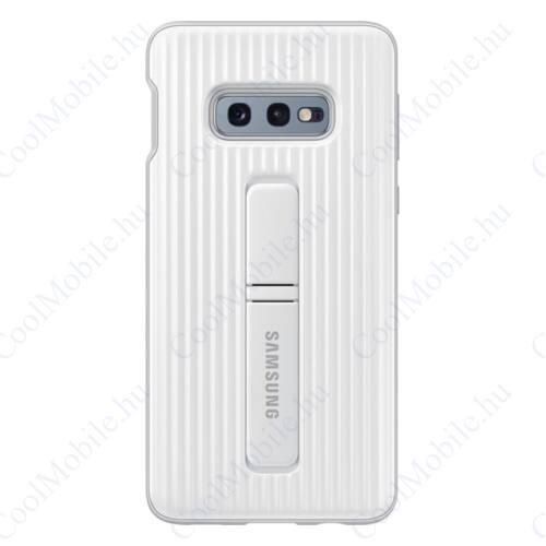 Samsung G970 Galaxy S10e Protective Standing Cover, gyári tok, fehér, EF-RG970CW