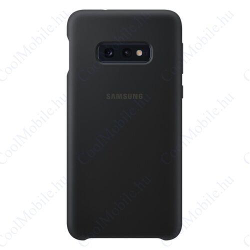 Samsung G970 Galaxy S10e Silicone Cover, gyári szilikon tok, fekete, EF-PG970TB