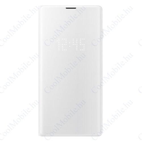 Samsung G973 Galaxy S10 LED View Cover, gyári flip tok, fehér, EF-NG973PW