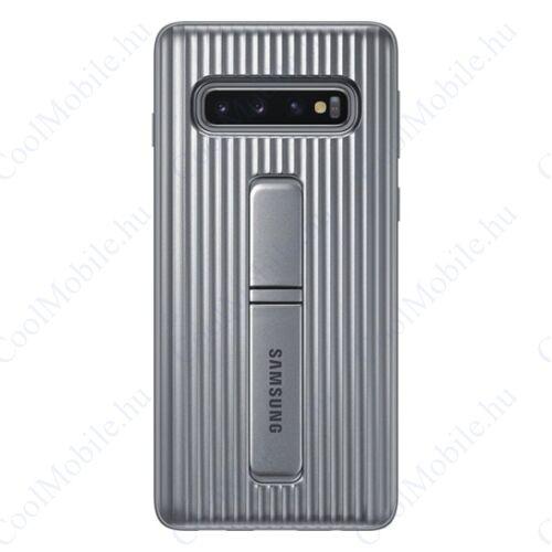 Samsung G973 Galaxy S10 Protective Standing Cover, gyári tok, ezüst, EF-RG973CS