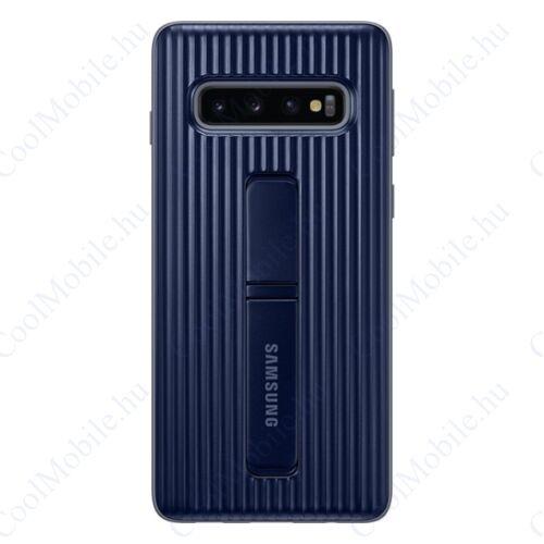 Samsung G973 Galaxy S10 Protective Standing Cover, gyári tok, kék, EF-RG973CB