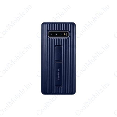 Samsung G975 Galaxy S10+ Protective Standing Cover, gyári tok, kék, EF-RG975CB