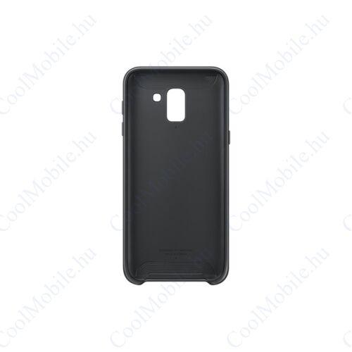 Samsung J600 Galaxy J6 Dual Layer Cover, gyári tok, fekete, EF-PJ600CB