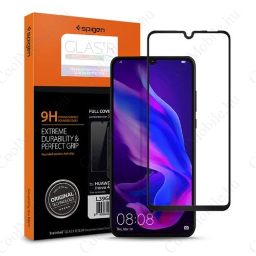 Spigen Glass FC Huawei P30 Lite Tempered kijelzővédő fólia