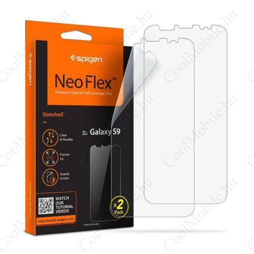 Spigen Neo Flex HD Samsung Galaxy S9 hajlított kijelzővédő fólia (2db előlapi)*