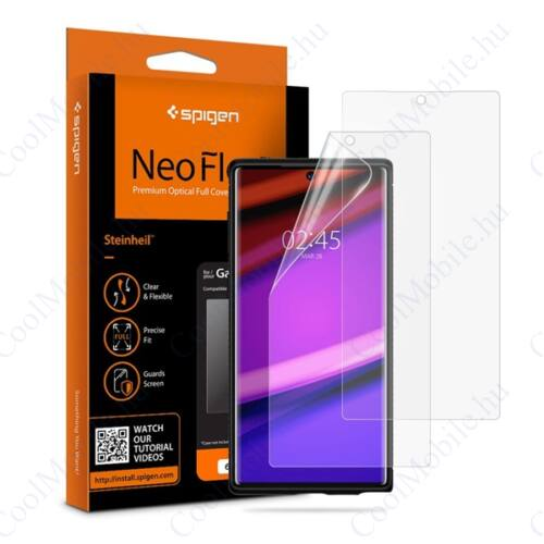 Spigen Neo Flex HD Samsung Galaxy Note 10 hajlított kijelzővédő fólia, (2db előlapi)