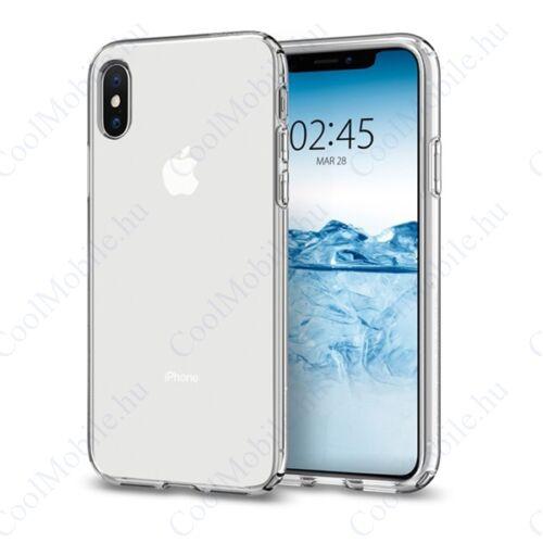 Spigen Crystal Flex Apple iPhone Xs Crystal Clear tok, átlátszó