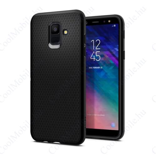 Spigen Liquid Air Samsung Galaxy A6 Black tok, fekete