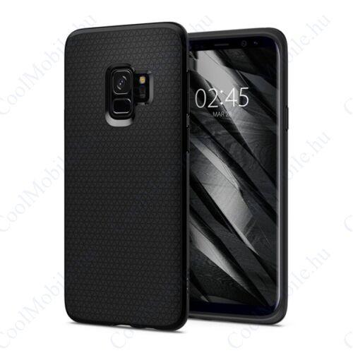 Spigen Liquid Air Samsung Galaxy S9 Matte Black tok, fekete