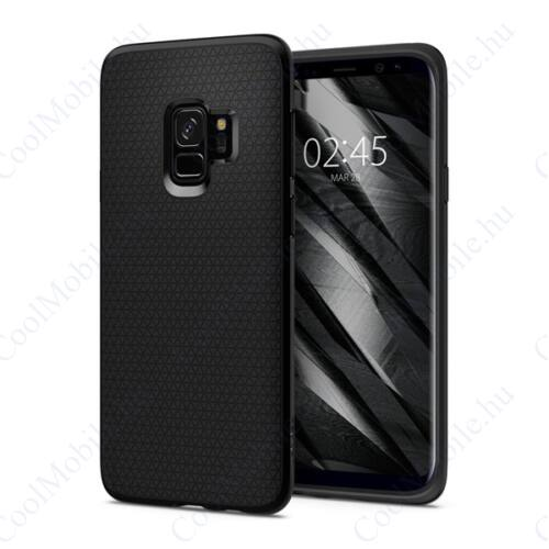 Spigen Liquid Air Samsung Galaxy S9 Matte Black tok, fekete