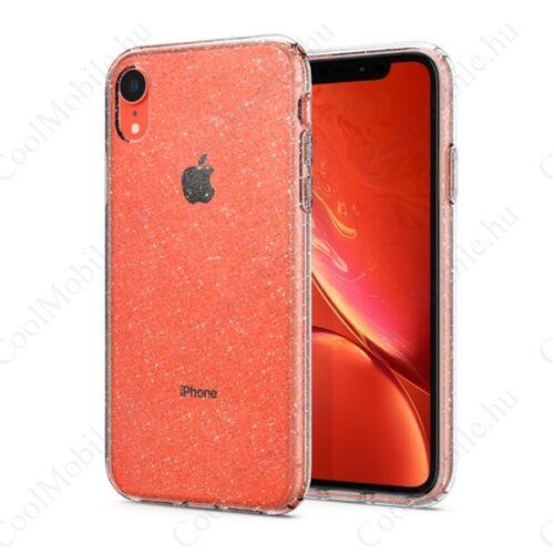 Spigen Liquid Crystal Glitter Apple iPhone XR Crystal Quartz tok, átlátszó