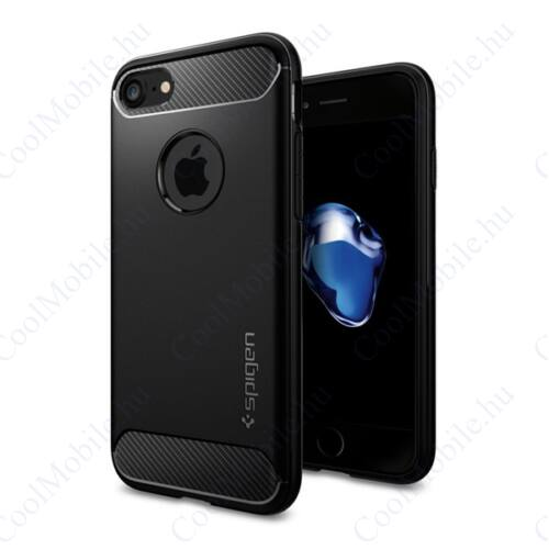 Spigen Rugged Armor Apple iPhone 8/7 Black tok, fekete