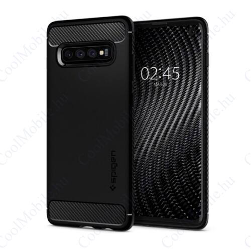 Spigen Rugged Armor Samsung Galaxy S10 Matte Black tok, fekete