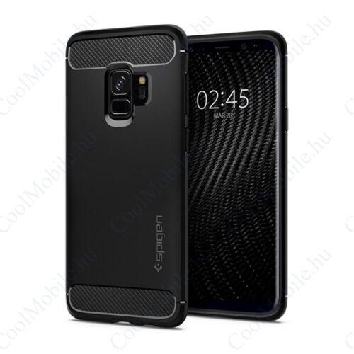 Spigen Rugged Armor Samsung Galaxy S9 Matte Black tok, fekete