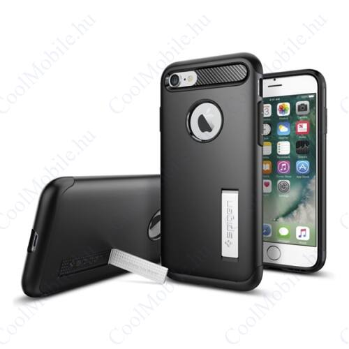 Spigen Slim Armor Apple iPhone SE (2020)/8/7 Black tok, fekete