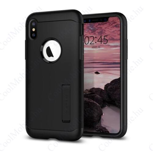 Spigen Slim Armor Apple iPhone Xs Max Black tok, fekete