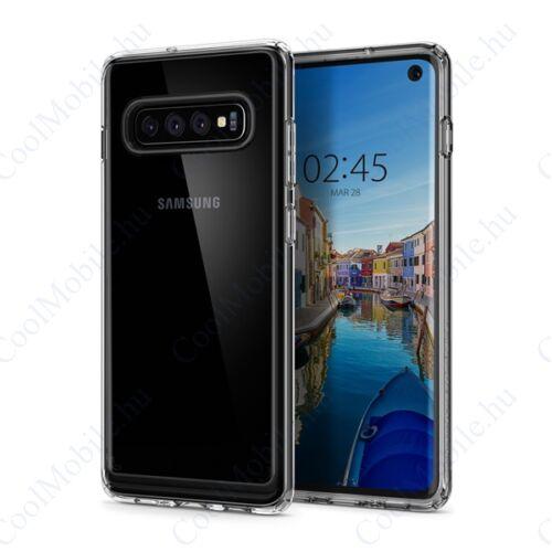 Spigen Ultra Hybrid Samsung Galaxy S10 Crystal Clear tok, átlátszó