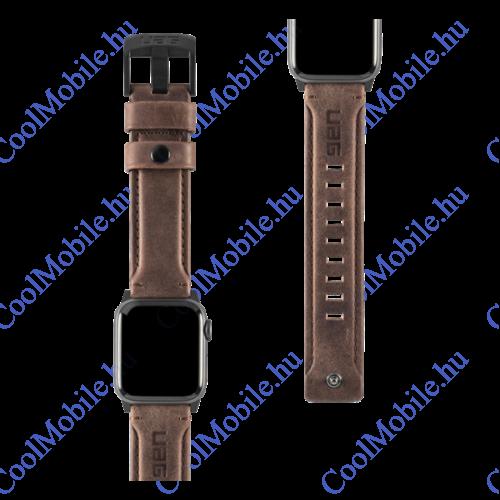 UAG Leather Apple Watch 40/38mm szíj, Barna