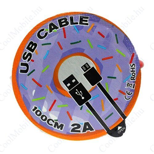 UMY Jelly adatkábel, microUSB, lila