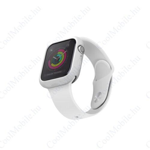 Uniq Lino Apple Watch 44mm szilikon tok, fehér