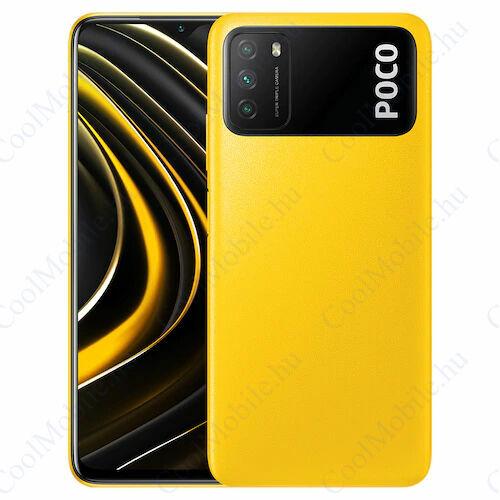 Xiaomi Poco M3 64GB 4GB Dual sárga, 1 év garancia