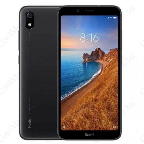 Xiaomi Redmi 7A 2GB 32GB Dual SIM (B20), fekete, Kártyafüggetlen, 1 év garancia