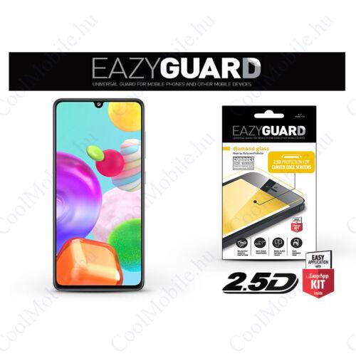Samsung A415F Galaxy A41gyémántüveg képernyővédő fólia - Diamond Glass 2.5D Fullcover - fekete